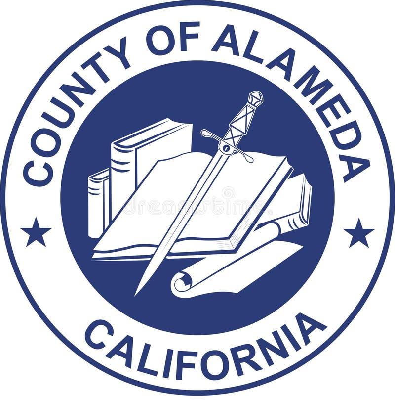 Brasão de Alameda County em Califórnia, Estados Unidos ilustração do vetor