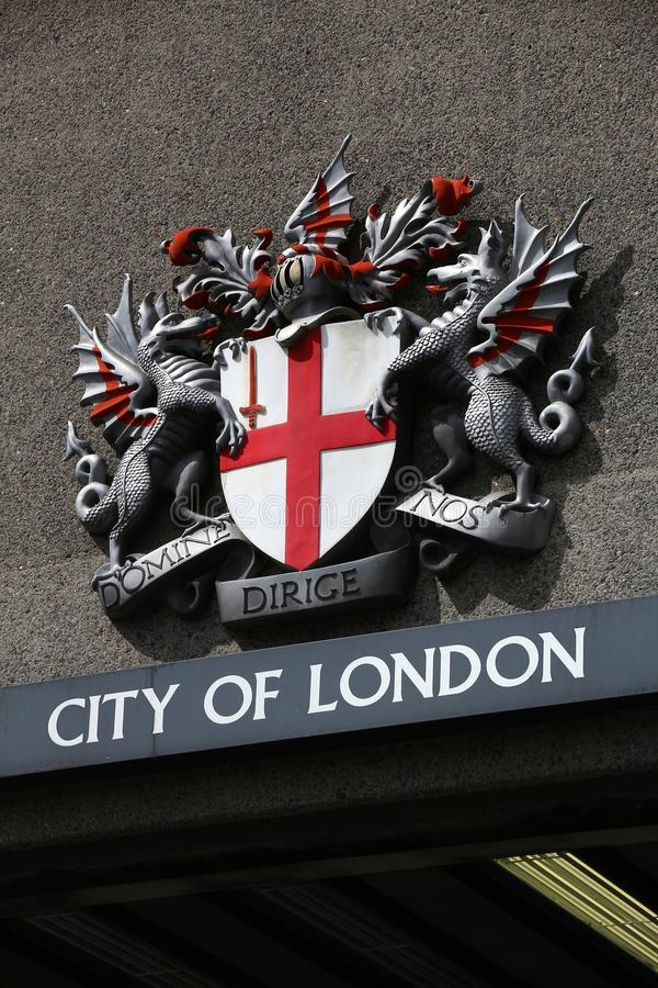 Brasão de Londres imagens de stock royalty free