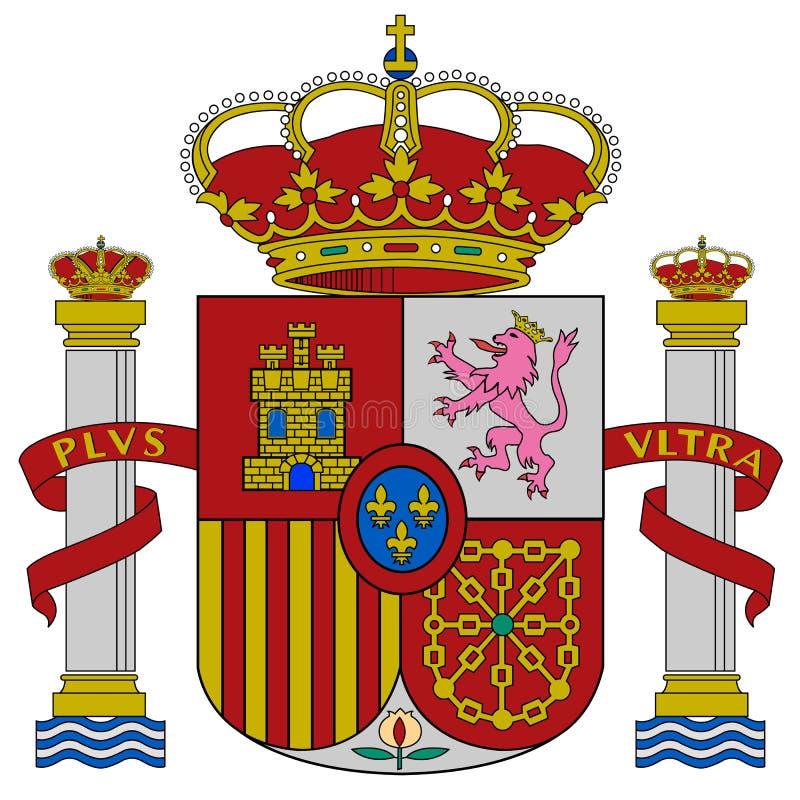 Brasão de Spain ilustração royalty free