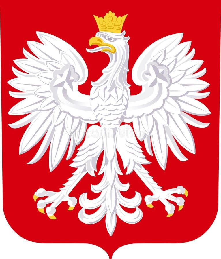 Brasão do Polônia ilustração stock