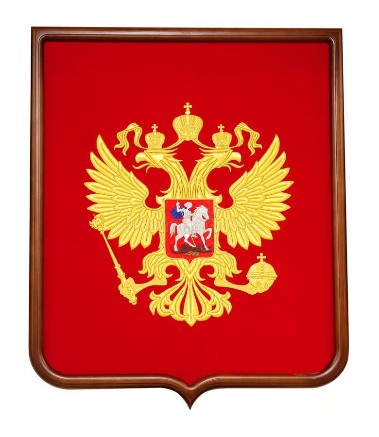 Brasão macro do russo da foto foto de stock royalty free