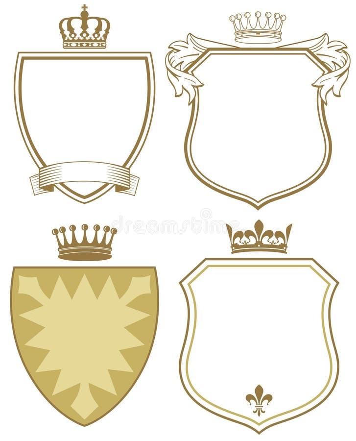 Brasão ou protetores ilustração royalty free