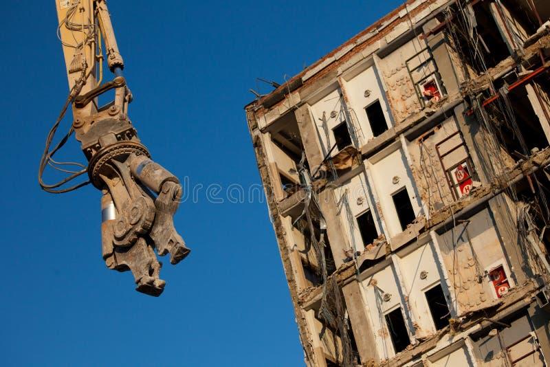 Bras d'excavatrice de démolition photo stock