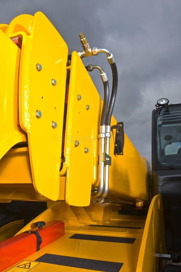 Bras de levage hydraulique photo libre de droits