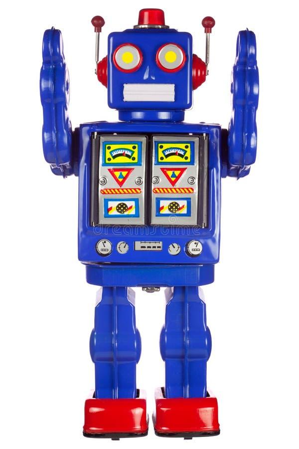 Bras de robot de bidon augmentés photographie stock