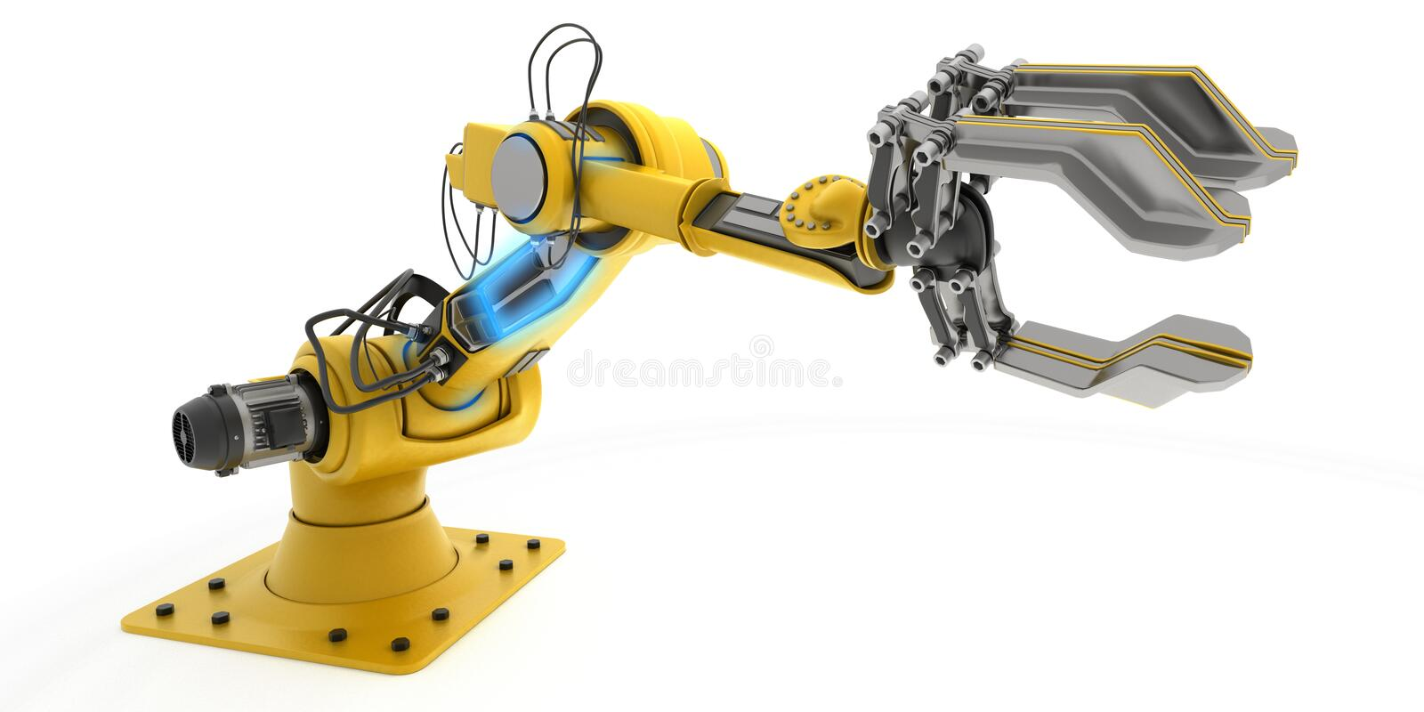 Bras de robot industriel illustration stock