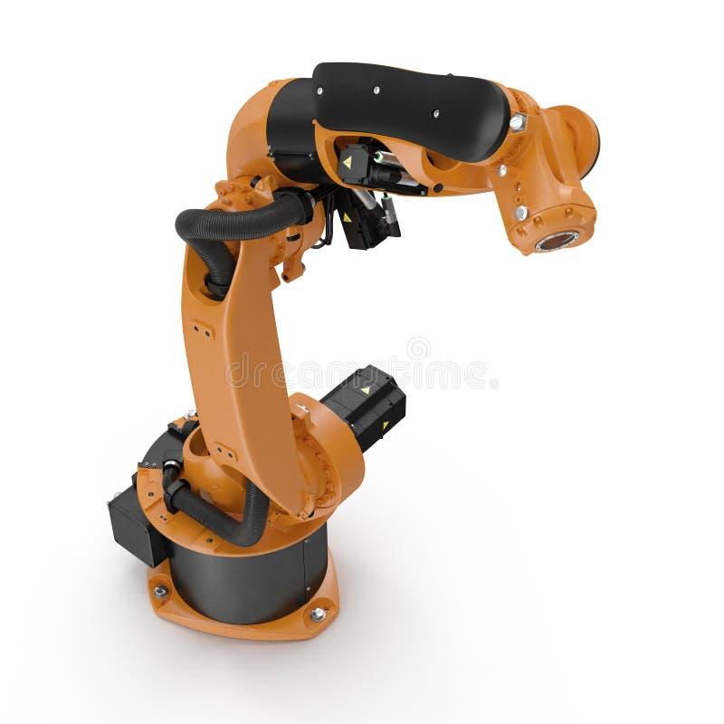 Bras de robot pour l'industrie d'isolement sur le blanc 3D illustration, chemin de coupure illustration de vecteur