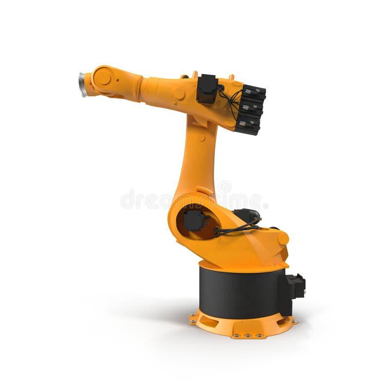 Bras de robot pour l'industrie d'isolement sur le blanc Vue de côté illustration 3D photo libre de droits