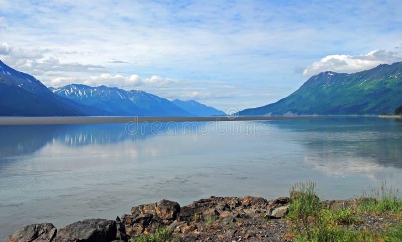 Bras de Turnagain près d'Anchorage photographie stock