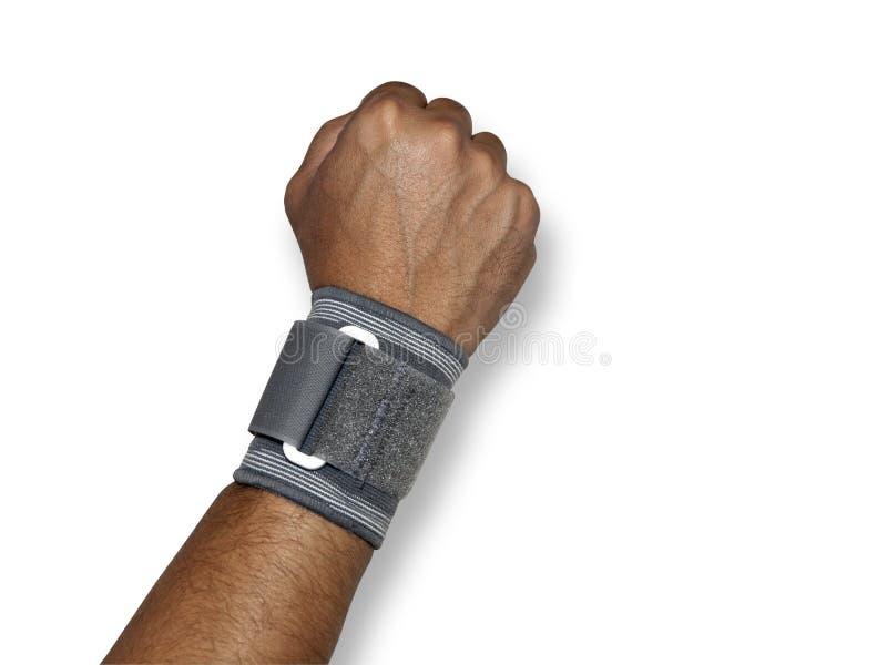 Bras humain avec un wristband images libres de droits