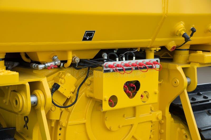 Bras hydraulique d'excavatrice de piston de bouteur de F photographie stock libre de droits