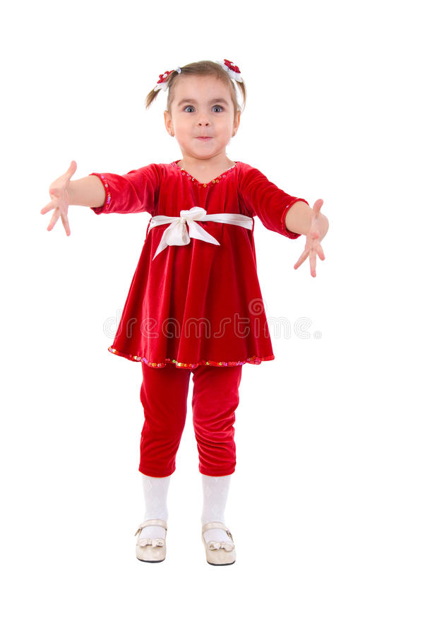 Bras ouverts de petite fille. photographie stock libre de droits