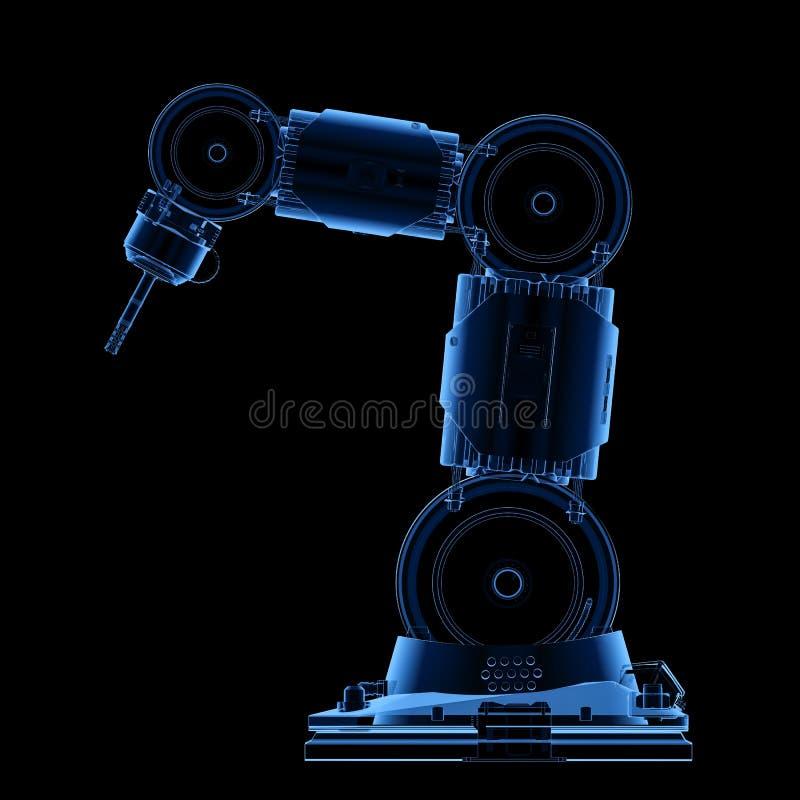 Bras robotique de rayon X illustration de vecteur