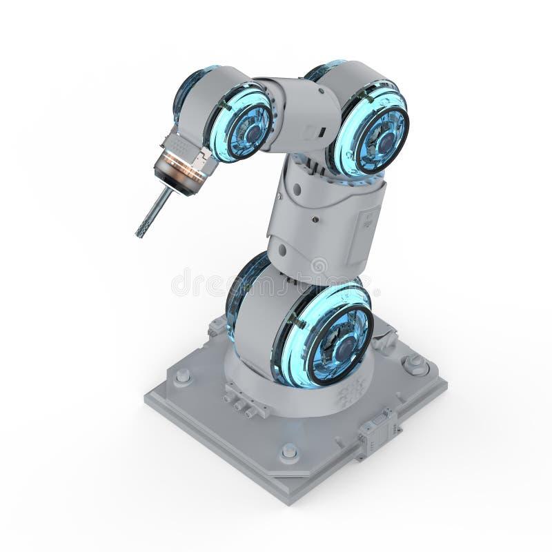 Bras robotique de soudeuse illustration stock