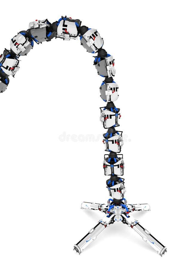 Bras robotique de tentacule, point d'attache illustration stock