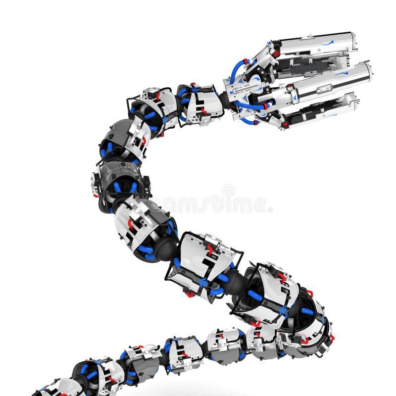 Bras robotique de tentacule, se levant illustration libre de droits