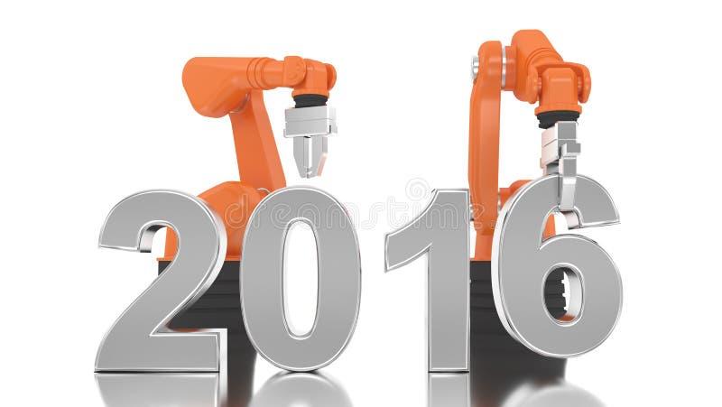 Bras robotique industriel construisant 2016 illustration libre de droits