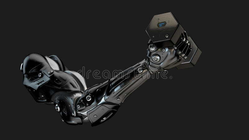 Bras robotique musculaire fort illustration stock