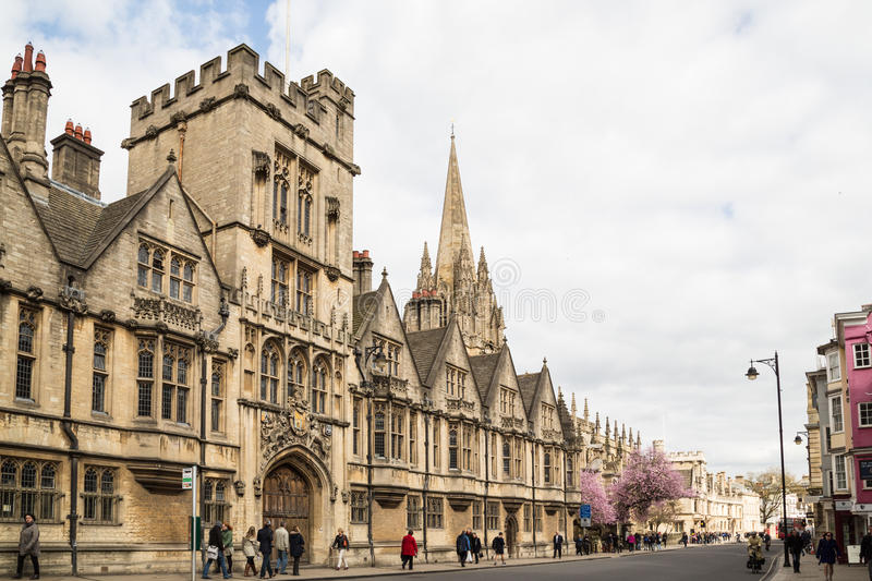 Brasenose College, Oxford High Street. stock photo