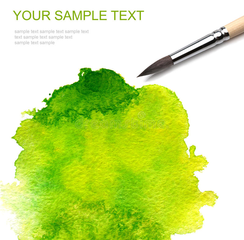 Brash and abstract paint. Brash and abstract watercolor paint stock image