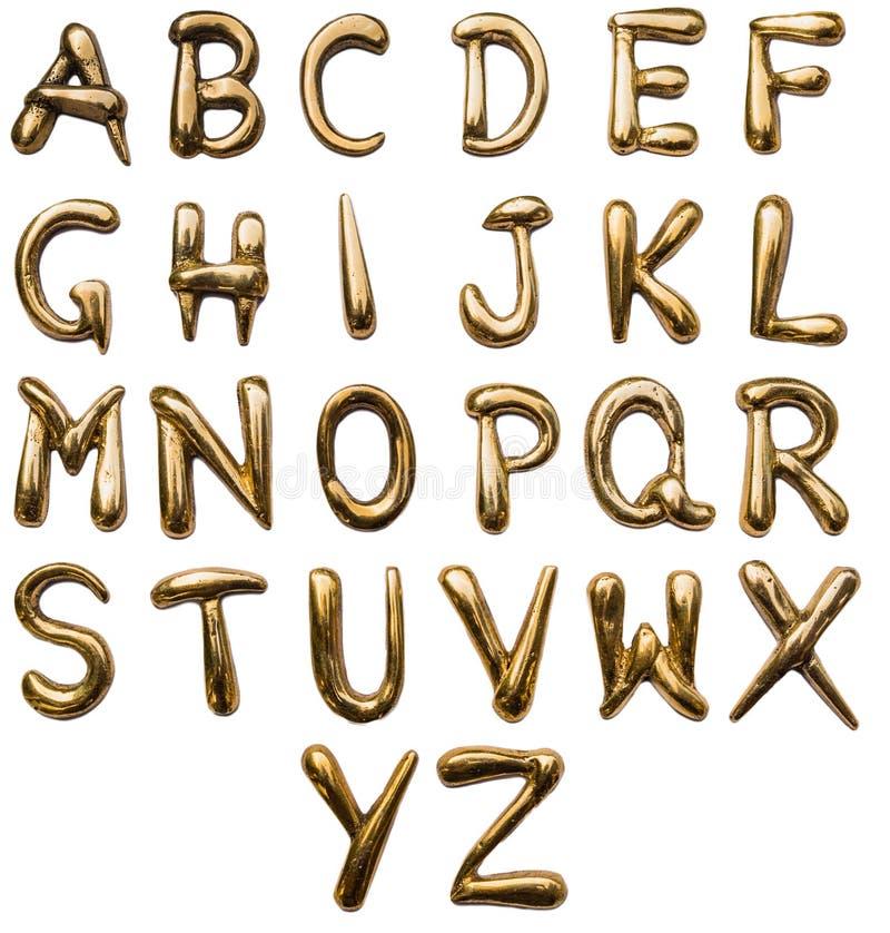 Brash mettalic alphabet royalty free stock images