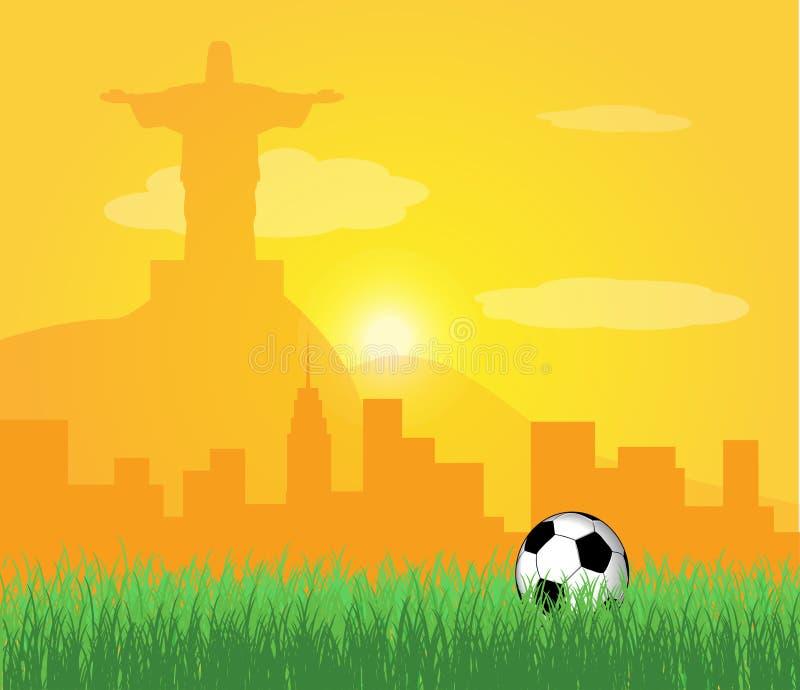Brasil 2014 ilustração royalty free
