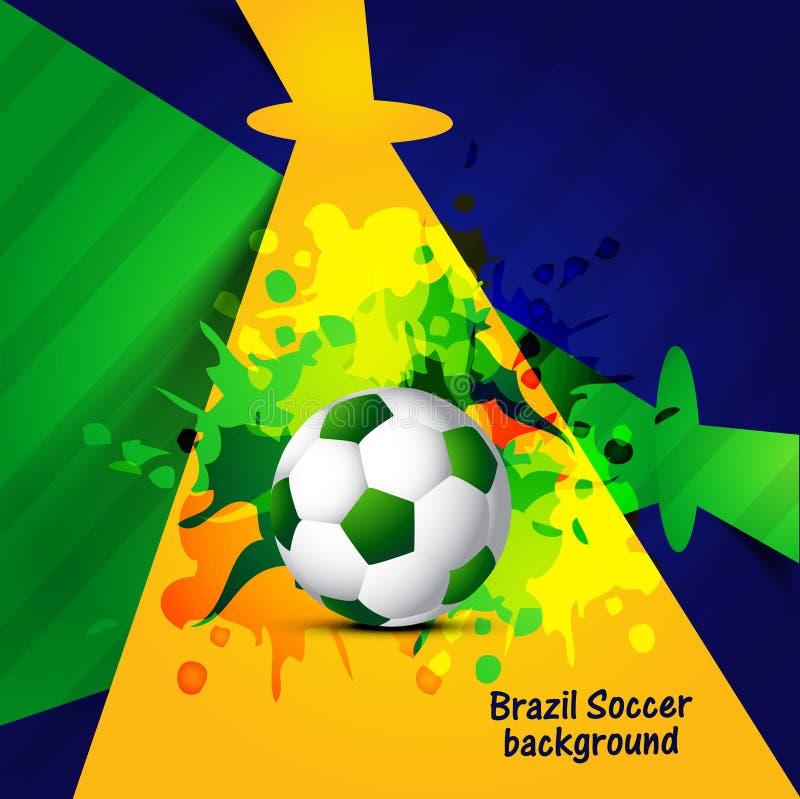 Brasil bonito colore a bola de futebol colorida criativa do conceito ilustração stock