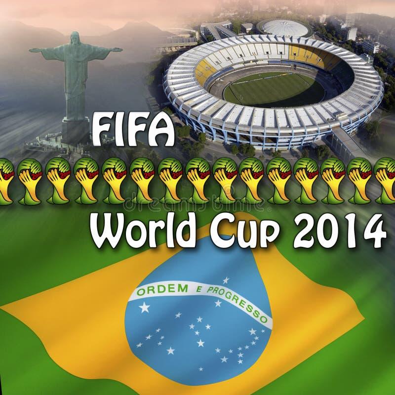 Brasil - campeonato do mundo 2014 do futebol ilustração do vetor