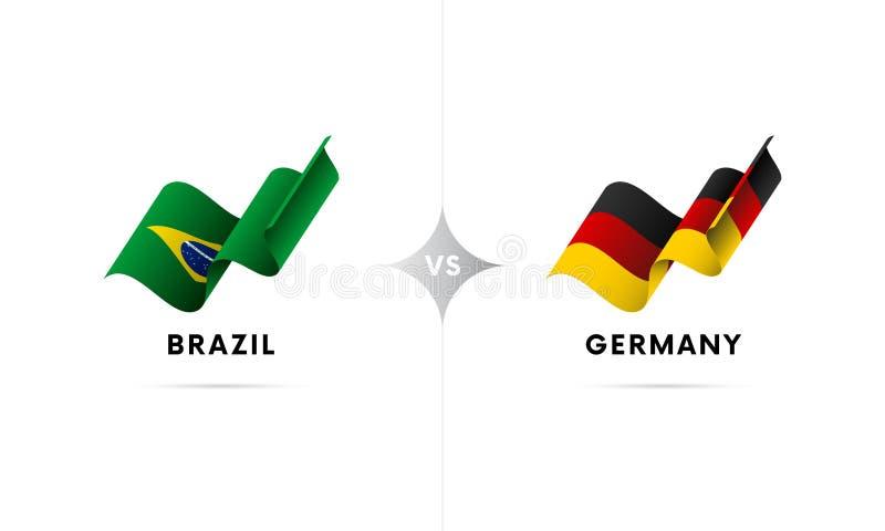 Brasil contra Alemanha Futebol Ilustração do vetor ilustração do vetor