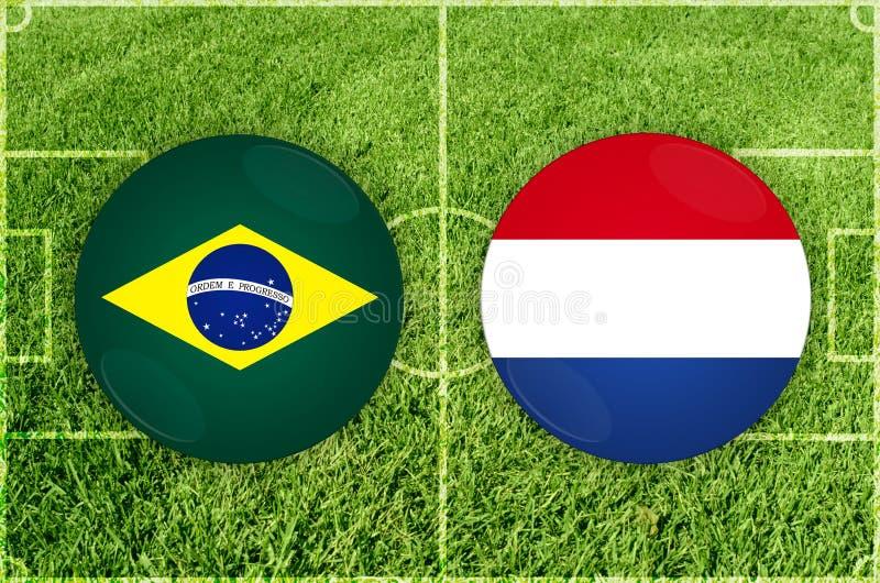 Brasil contra o fósforo de futebol de Paraguai ilustração do vetor