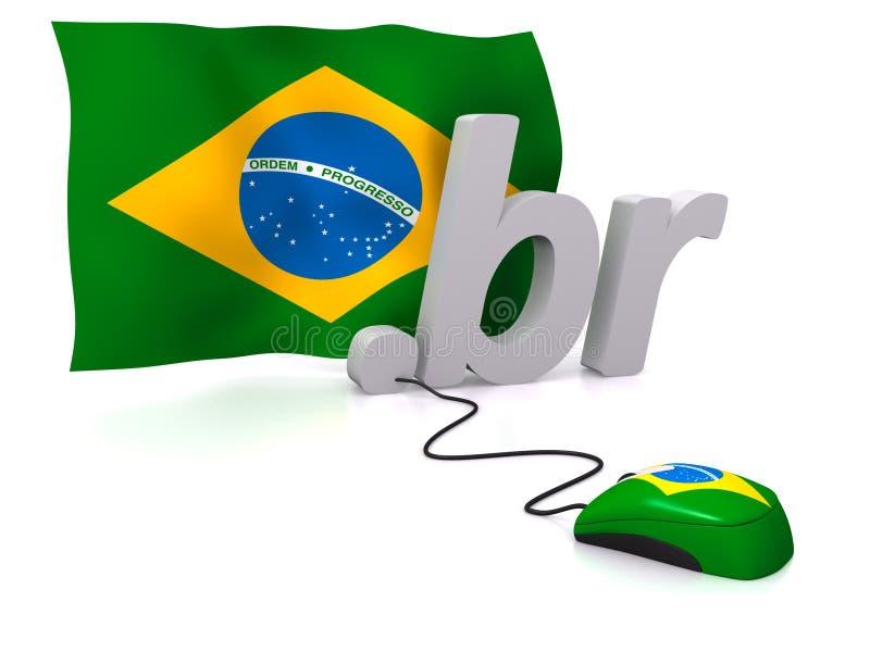 Brasil em linha ilustração stock