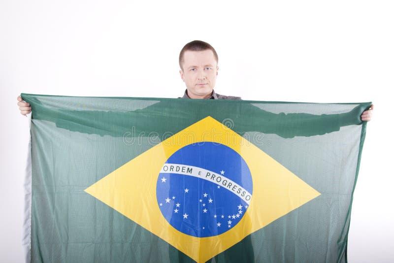 Brasil Fan. Royalty Free Stock Image