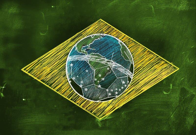 Download Brasil Flag Sketch Soccer Edition Stock Illustration - Illustration: 36365543