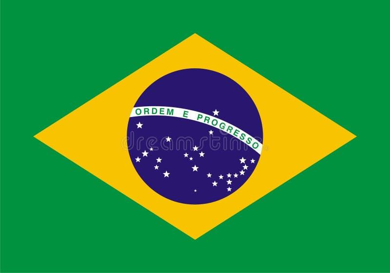 brasil flagga royaltyfri illustrationer