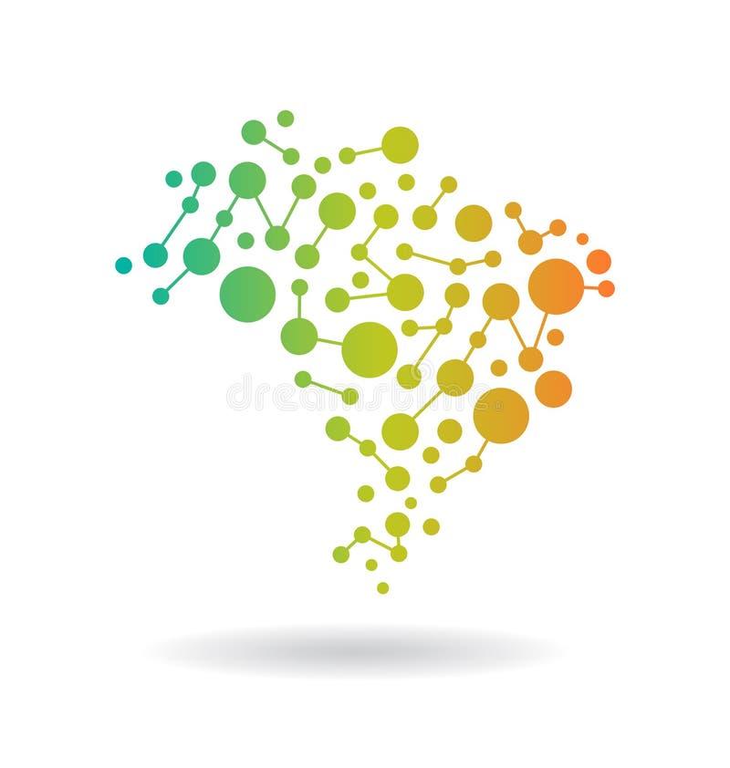 Brasil Networking illustration stock images