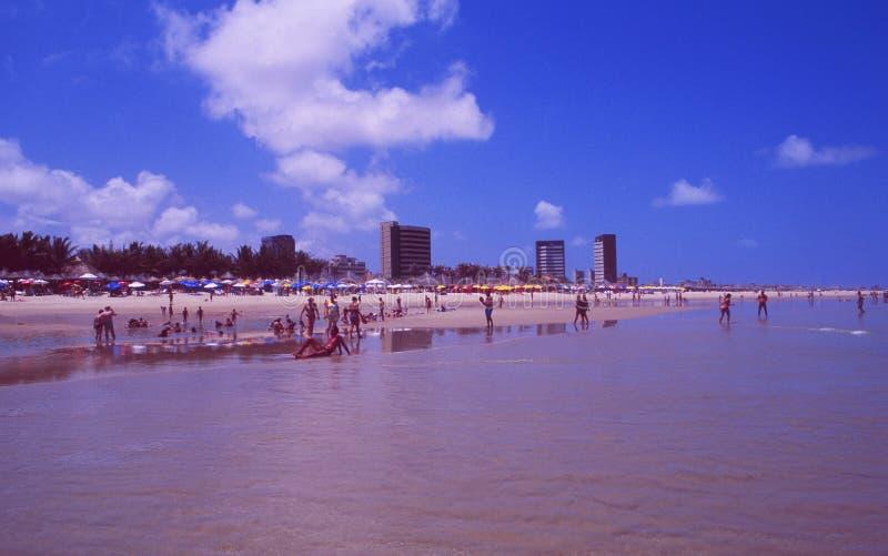 Brasil: O Praia a Dinamarca Futuro na cidade de Fortalezza fotos de stock royalty free