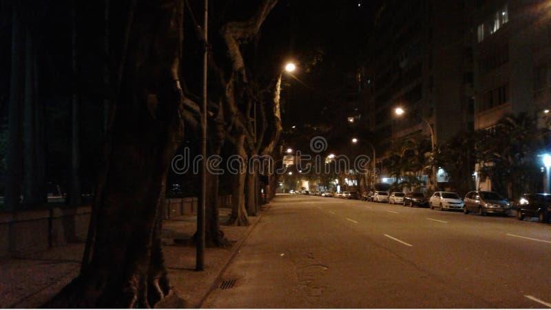 Brasil - Rio de janeiro - Rui Barbosa Avenue - noite imagens de stock