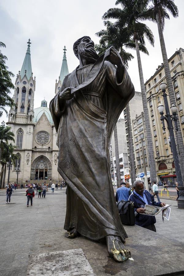 Brasil - San Paolo - catedral metropolitana fotos de stock