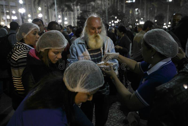 Brasil - San Paolo - Moradores de rua - sem abrigo na estrada fotos de stock royalty free