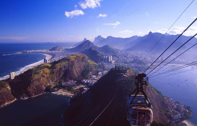 Brasil: A skyline de Rio de janeiro City foto de stock royalty free