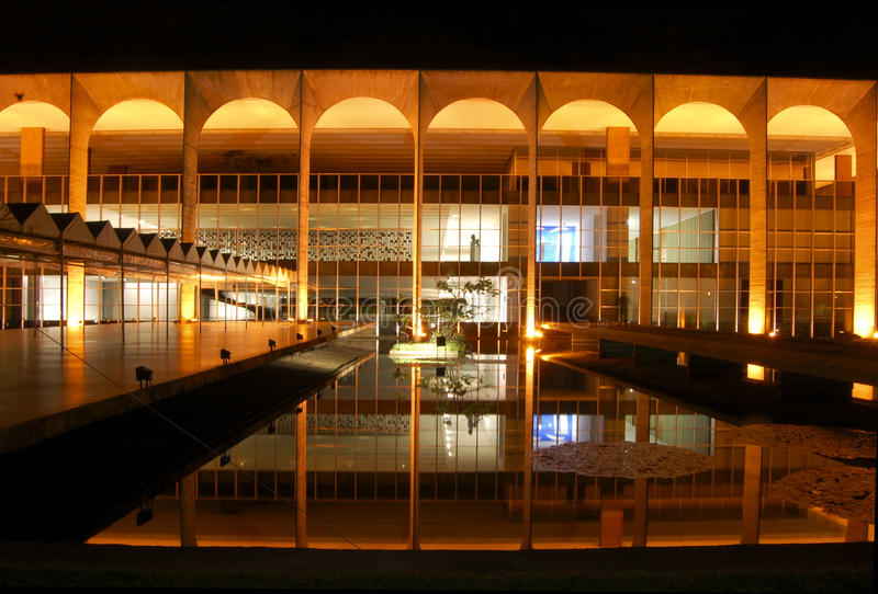 Brasila: il palazzo di Itamarati fotografia stock