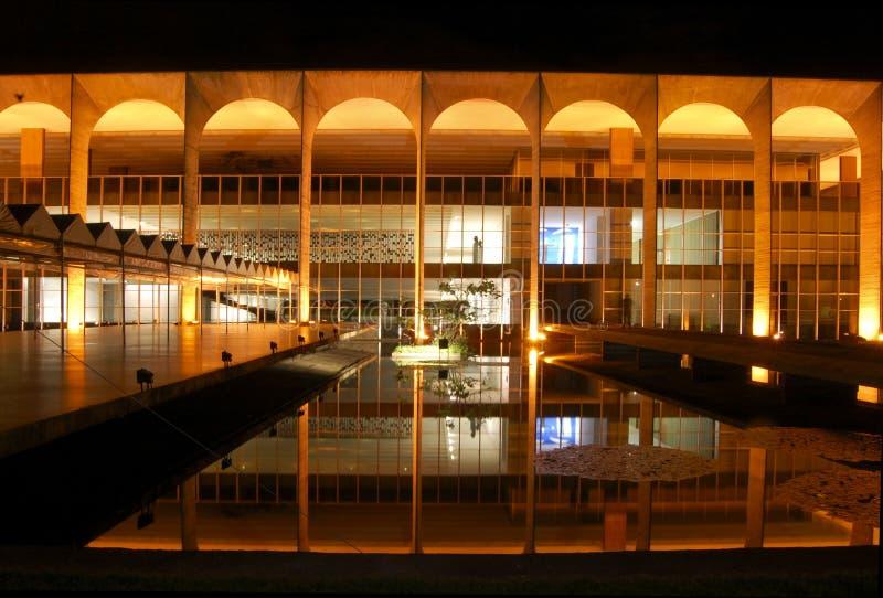 Brasila: o palácio de Itamarati foto de stock