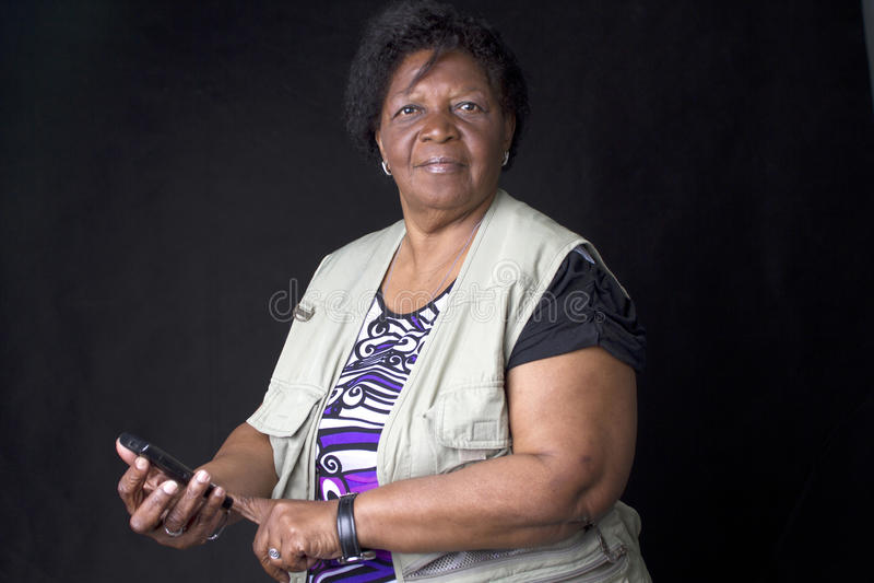 Brasileiro africano sênior da mulher fotos de stock royalty free