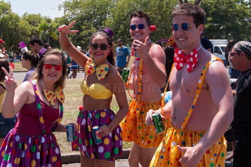 Brasileiros no carnaval imagens de stock