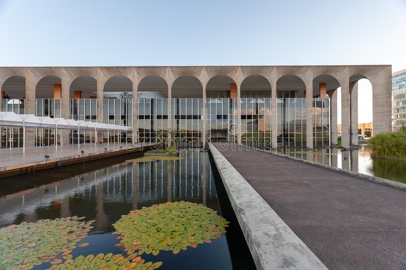 Brazilian Itamaraty palace - Foreign Office - Department of state. BRASILIA, BRAZIL - MAR 03, 2007 - Brazilian Itamaraty palace - Foreign Office - Department of stock images
