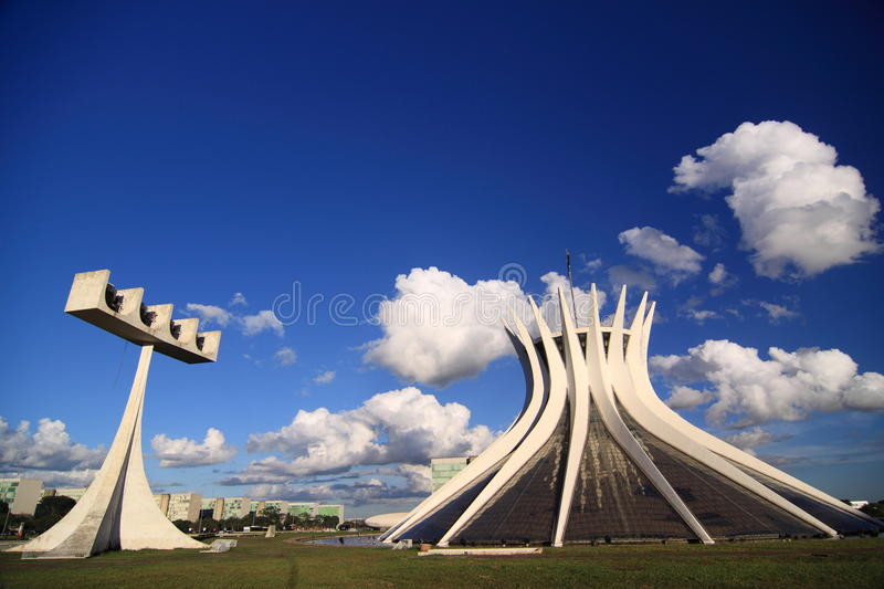Brasilia Cathedral royalty free stock photo