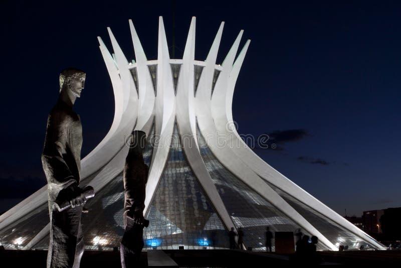 Brasilia Cathedral royalty free stock photo