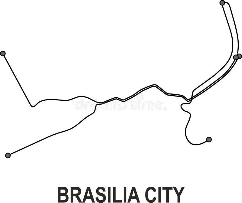 Brasilia City map stock vector Illustration of file 113567272
