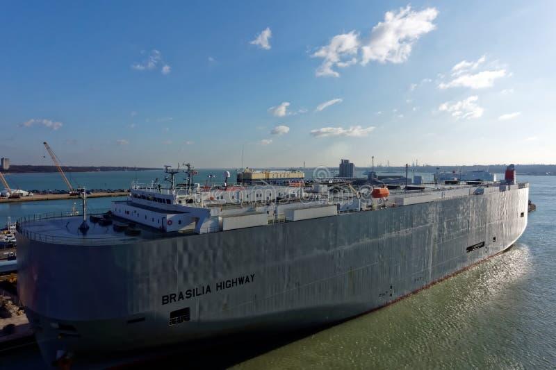Brasilia Highway Vehicle Carrier Vessel stock photos