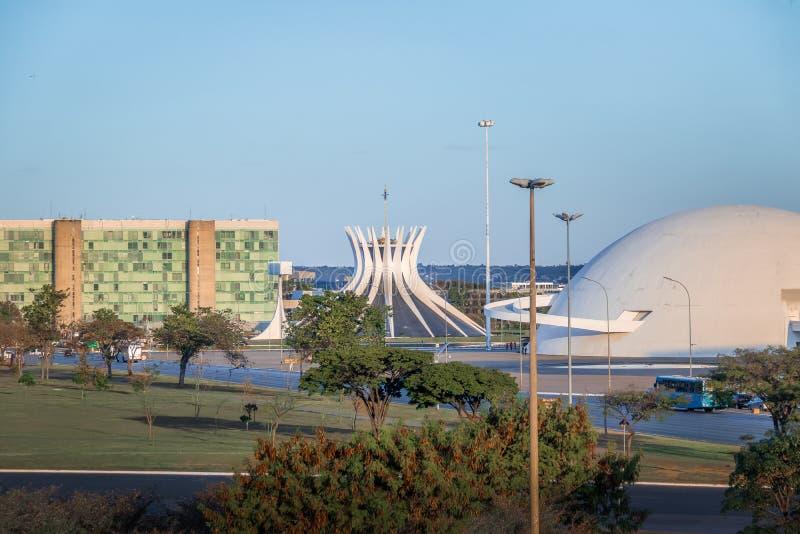 Brasilia miasto - Brasilia, Distrito Federacyjny, Brazylia zdjęcie royalty free